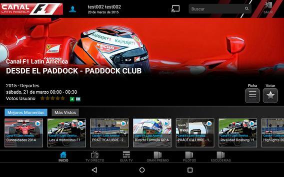 Canal F1 Latin America screenshot 5