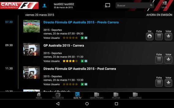 Canal F1 Latin America screenshot 6