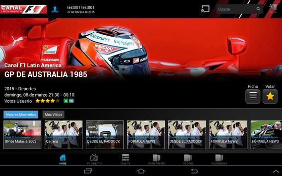 Canal F1 Latin America screenshot 2