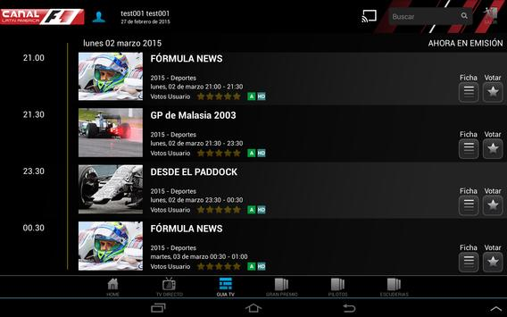 Canal F1 Latin America screenshot 3