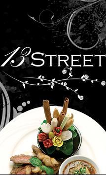 13 Street Restaurant poster