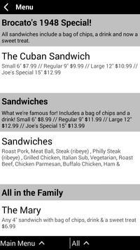 Brocato's Sandwich Shop screenshot 4
