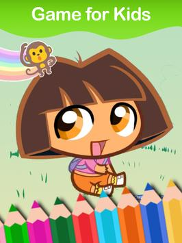 Coloring Book of Dora The Girl Plakat