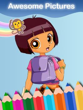 Coloring Book of Dora The Girl スクリーンショット 8