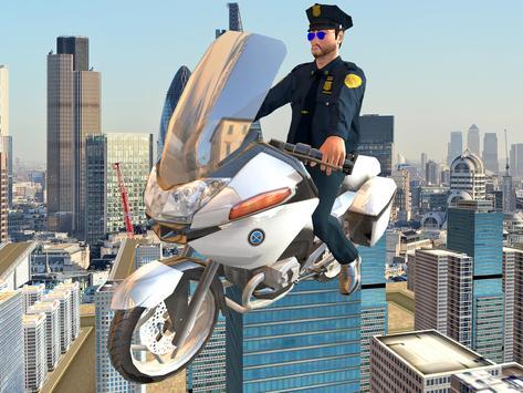 Flying Police Bike Rider screenshot 6