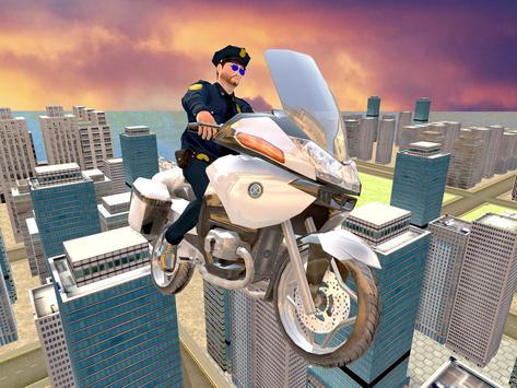 Flying Police Bike Rider screenshot 9