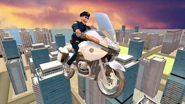 Flying Police Bike Rider screenshot 11