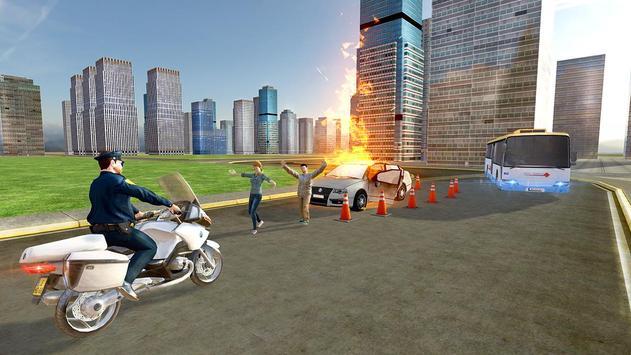 Flying Police Bike Rider screenshot 12