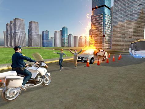 Flying Police Bike Rider screenshot 2