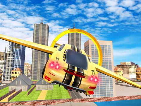 Futuristic Flying Car Drive 3D poster