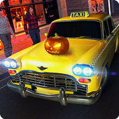 Halloween Party Taxi Driving icon