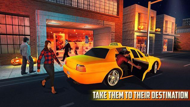 Halloween Party Taxi Driving screenshot 11