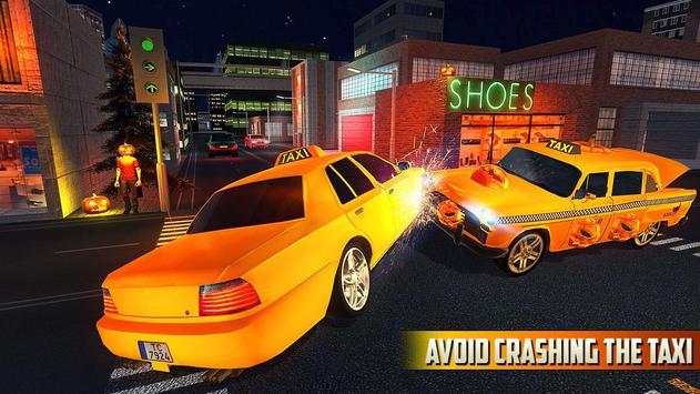 Halloween Party Taxi Driving screenshot 2