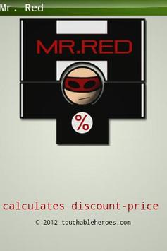Mr. Red percentage calculator poster