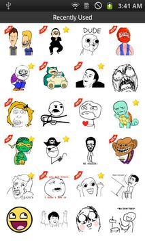 SMS Rage Faces poster