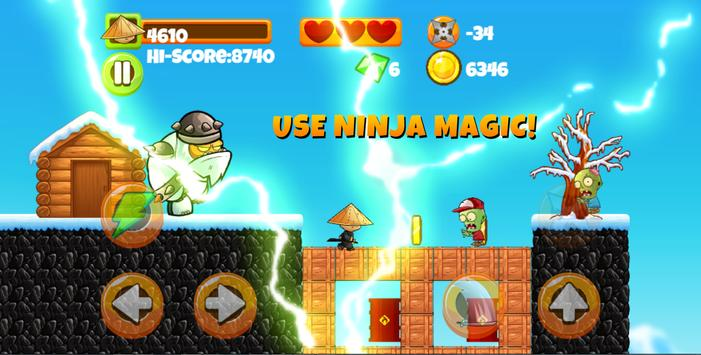 Ninja Kid vs Zombies apk screenshot
