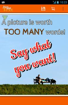 Just Add Text (to photos/pics) poster