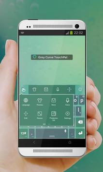Grey Curve Keypad Cover apk screenshot