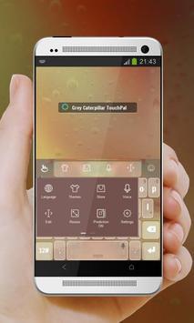 Grey Caterpillar Keypad Cover apk screenshot