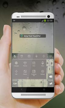 Grey Teal Keypad Cover apk screenshot