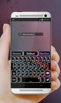 Mirrored stars Keypad Cover apk screenshot