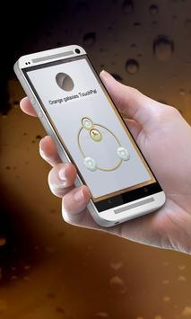 Orange galaxies Keypad Cover apk screenshot