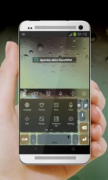 Sparkly skies Keypad Cover apk screenshot