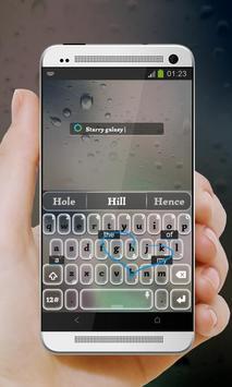 Starry galaxy Keypad Cover apk screenshot