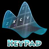 Electronic black Keypad Layout icon