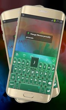 Green Matter Keypad Layout poster