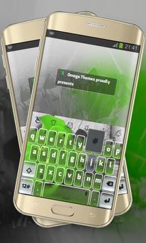 Green Rose Keypad Layout poster