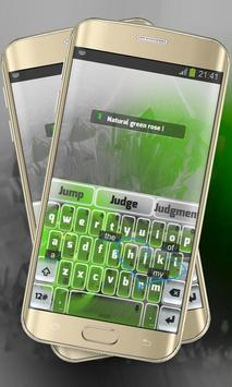 Green Rose Keypad Layout apk screenshot