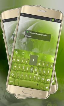 Lime Green Keypad Layout poster