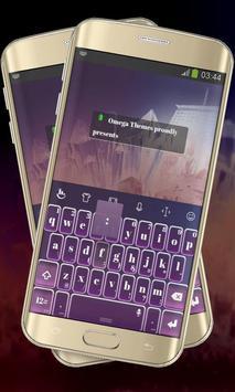 Massive Purple Keypad Layout poster