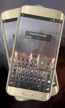 Muddy Brown Keypad Layout poster
