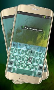 Neon green Keypad Layout poster