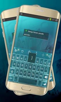 Neon stars Keypad Layout poster