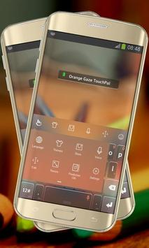 Orange Gaze Keypad Layout apk screenshot