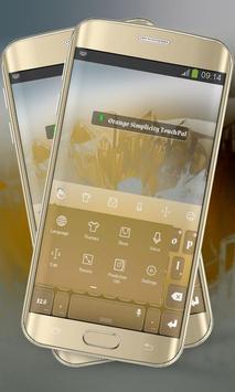 Orange Simplicity Keypad apk screenshot