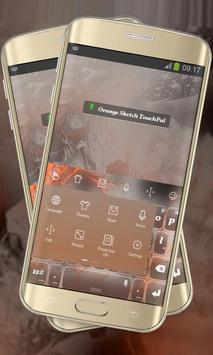Orange Sketch Keypad Layout apk screenshot