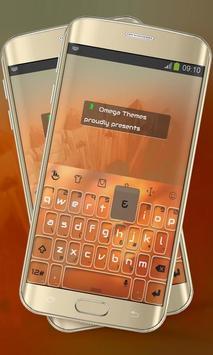 Orange Paint Keypad Layout poster
