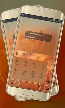 Orange Paint Keypad Layout screenshot 1