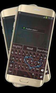 Organic Feather Keypad Layout apk screenshot