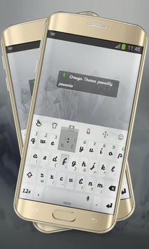 Pure White Keypad Layout poster