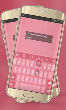 Strawberry sweet Keypad Layout apk screenshot