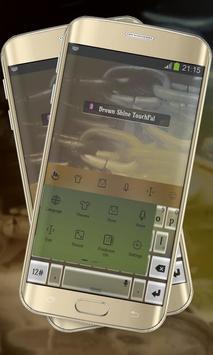 Brown Shine Keypad Cover apk screenshot