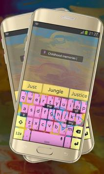 Brush Colors Keypad Cover apk screenshot
