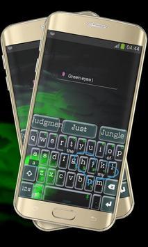 Evil Green Eye Keypad Cover apk screenshot