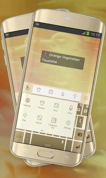 Orange Vegetation Keypad Cover apk screenshot
