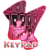 Pink Flakes Keypad Cover icon
